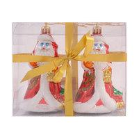 Елочное украшение «Дед Мороз», 12 см, 2 шт. Волшебная Страна