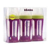 Набор из 3х бутылочек Biboz 210мл, Beaba, сиреневый BÉaba
