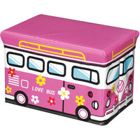 """Пуф-короб для игрушек """"Микроавтобус """"Цветочек"""" 40*25*25 см Рыжий кот"""