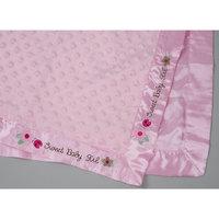 Розовый плед с атласной окантовкой 80*110 см Непоседа
