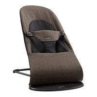 Кресло-шезлонг Balance Soft Organic, BabyBjorn, коричневый с черным