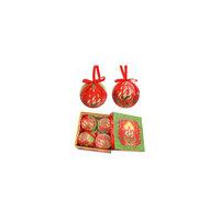 """Набор елочных шаров """"Праздничные свечи"""", 4 шт, d=75 мм, в подарочной коробке Tukzar"""