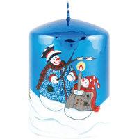 "Синяя глянцевая свеча ""Новый год"" Волшебная Страна"