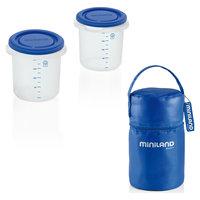 Термосумка с 2-мя мерными стаканчиками, HERMISIZED, синий Miniland