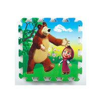 Коврик-пазл Маша и медведь, 8 сегментов Играем вместе