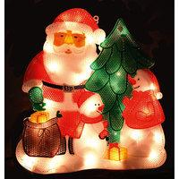 Панно «Новый год»  34х30см, 35 мини ламп Волшебная Страна