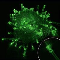 Электрогирлянда светодиодная, зеленая, 60 ламп, 3 м Волшебная Страна