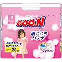 Подгузники-трусики Goon, XXL 13-25 кг, для девочек, 28 шт.