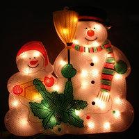 Панно «Снеговик» 36х34см, 35 ламп Волшебная Страна