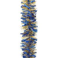Мишура, 6 слоев, 10 см х 2 м, цвет - синий+золото Волшебная Страна