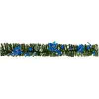 Гирлянда хвойная с синими украшениями, длина - 1,8м Tukzar