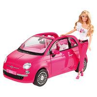 Розовый Фиат и кукла Барби, Barbie Mattel