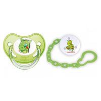 Набор соска-пустышка с держателем Волшебная сказка, 0-6 мес., Саnpol Babies, зеленый