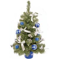 Ель 61 см с синим декором Волшебная Страна
