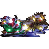 Световое панно «Дед мороз на упряжке» (20 ламп, 44,5х24 см), Волшебная страна