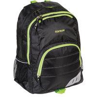 Рюкзак спортивный 52х38х14см, черный с зеленым кантом Centrum
