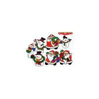 Витражная наклейка новогодняя, 20х20 см, 8 видов, TUKZAR