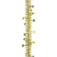 Мишура фигурная, 2 слоя, 6 см х 2 м, цвет - золотой Волшебная Страна