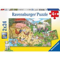 Набор пазлов  «Поездка в деревню» 2х24 деталей, Ravensburger
