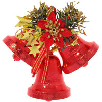 """Подвесное красное украшение """"Колокольчики с декором"""" Волшебная Страна"""