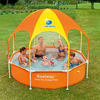 Каркасный бассейн с навесом от солнца и душем,  Bestway