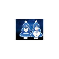 "Мягкая игрушка-ёлочка ""Дед Мороз и Снеговик"", синий цвет, TUKZAR"