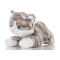 AURORA Мягкая игрушка  Котенок (серый), 30 см