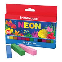 Пластилин Neon (12 цветов, 180г), Artberry Erich Krause