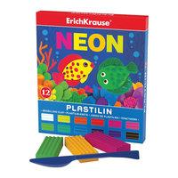 Пластилин Neon (12 цветов, 216г + стек), Artberry Erich Krause
