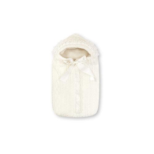 Конверт меховой Зимняя Радость, Сонный гномик, молочный