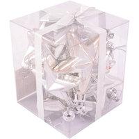 Набор серебро, 6 см, 10 шт., звезды Волшебная Страна