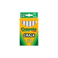 Неосыпающиеся белые мелки, 12 шт., Crayola