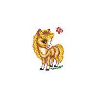 Набор для вышивания крестом «Весёлая лошадка» Чудесная игла