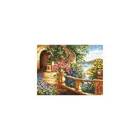 Набор для вышивания крестом «На лазурном берегу» Чудесная игла
