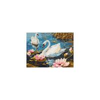 Набор для вышивания крестом «Лебединая пара» Чудесная игла
