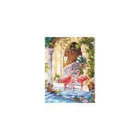 Набор для вышивания крестом «Розовые фламинго» Чудесная игла