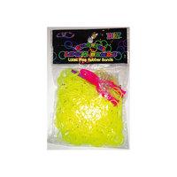 Набор для плетения браслетов из резиночек Loom Bands, желтый