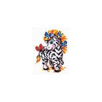 Набор для вышивания крестом «Малышка зебра» Чудесная игла