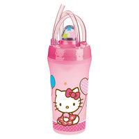 Стакан с крышкой и соломинкой (300 мл), Hello Kitty Новый Диск
