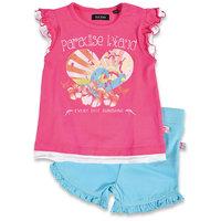 Комплект для девочки: футболка и шорты BLUE SEVEN