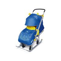 Санки-коляска Ника детям 7, Фокусник, синий