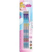 Чернографитные карандаши 3 шт, Принцессы Дисней Академия групп