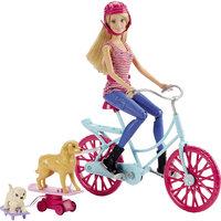 Кукла Barbie на велосипеде с питомцем Mattel