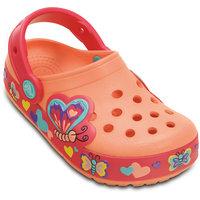 Сабо со светодиодами для девочки Crocs