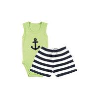 """Комплект: боди-майка и шорты """"Якорь"""" для мальчика Hudson Baby"""