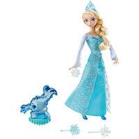 Кукла Эльза, со снежинками и Зефиркой, со светом, Disney Princess Mattel