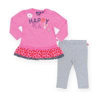 Комплект для девочки: футболка с длинным рукавом и брюки BLUE SEVEN