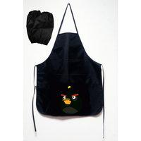 """Фартук с карманом и нарукавники """"Angry birds"""", черный Centrum"""