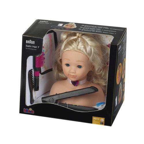 Модель для причесок с утюжком для волос, BRAUN