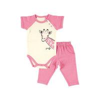 """Комплект: боди и штанишки """"Лимпопо"""" для девочки Hudson Baby"""